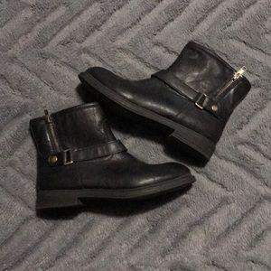 Black biker booties